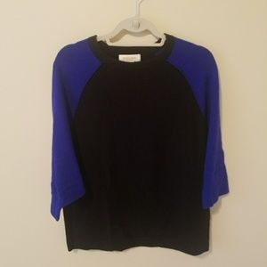 Cashmere Black and blue sweater